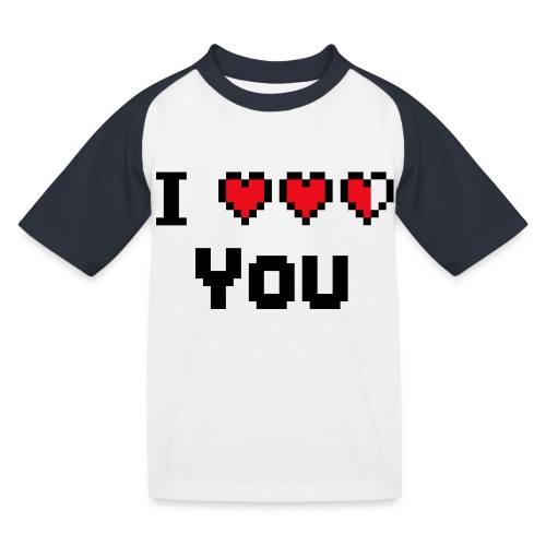 I pixelhearts you - Kinderen baseball T-shirt