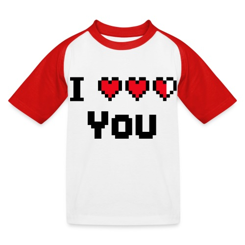I pixelhearts you - Kinderen baseball T-shirt