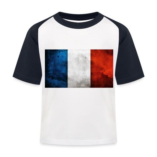 France Flag - Kids' Baseball T-Shirt