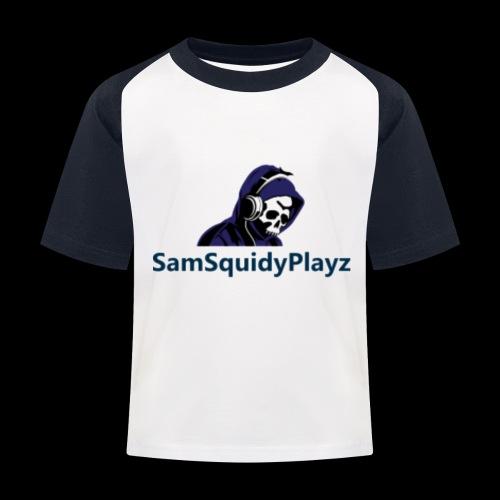 SamSquidyplayz skeleton - Kids' Baseball T-Shirt