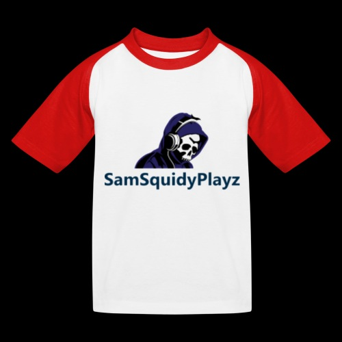 SamSquidyplayz skeleton - Kids' Baseball T-Shirt