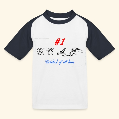 Greatest of all time - Kinder Baseball T-Shirt