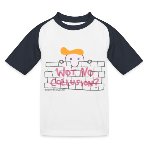 Trump's Wall - Kids' Baseball T-Shirt