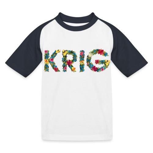 Blomstrende krig - Baseball-T-skjorte for barn