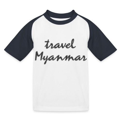 travel Myanmar - Kinder Baseball T-Shirt