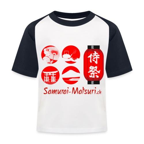 Samurai Matsuri Festival - Kinder Baseball T-Shirt