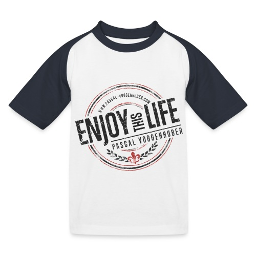 Enjoy this Life® & Fleur de Lys Pascal Voggenhuber - Kinder Baseball T-Shirt