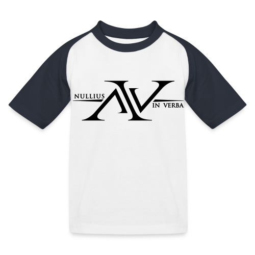 Nullius In Verba Logo - Kids' Baseball T-Shirt