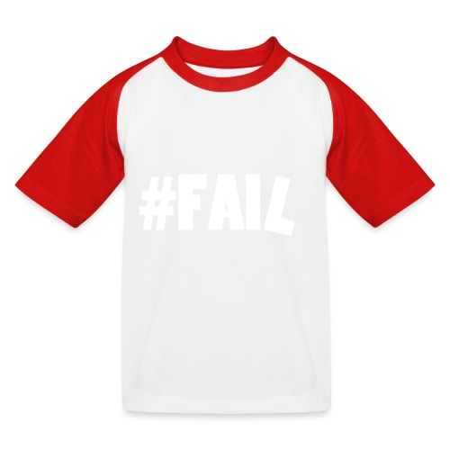 FAIL / White - T-shirt baseball Enfant