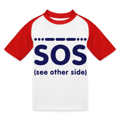 SOS - Kinderen baseball T-shirt