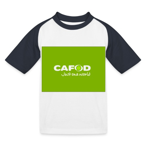 CAFOD Logo greenback - Kids' Baseball T-Shirt