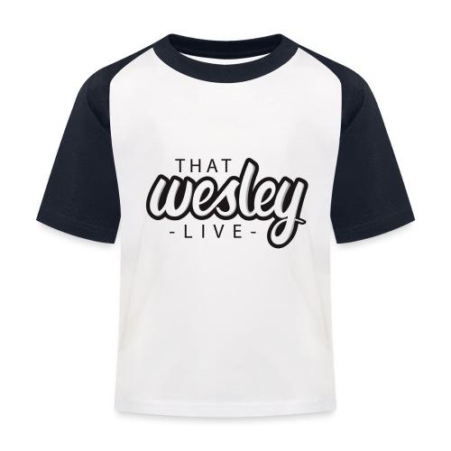 ThatWesleyLOGO 3 4 png - Kinderen baseball T-shirt