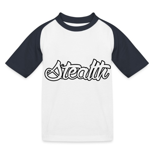 Stealth White Merch - Kids' Baseball T-Shirt