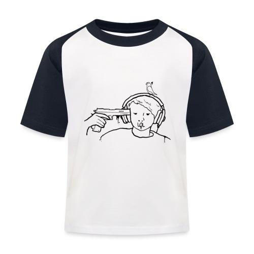 kys valkoinen - Lasten pesäpallo  -t-paita