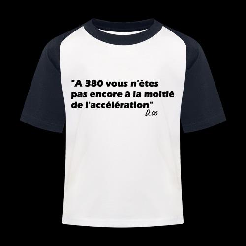 380 noir - T-shirt baseball Enfant