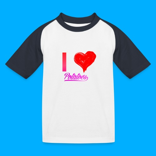 I Heart Potato T-Shirts - Kids' Baseball T-Shirt