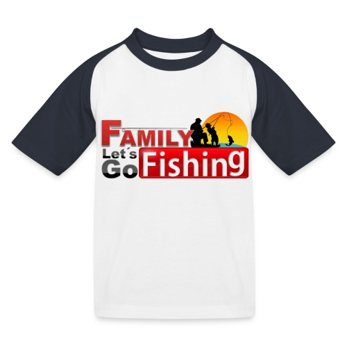 FAMILY LET'S GO FISHING FUND - Kids' Baseball T-Shirt
