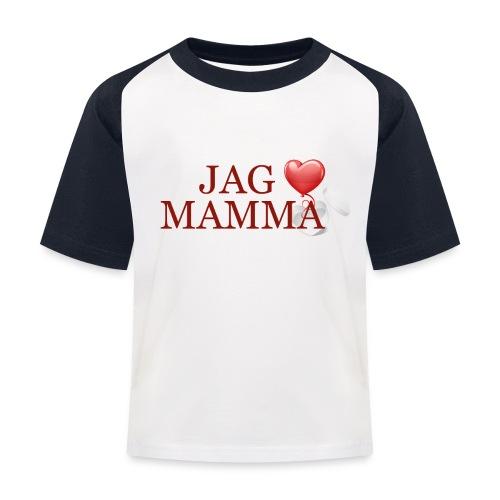 Jag älskar mamma - Baseboll-T-shirt barn