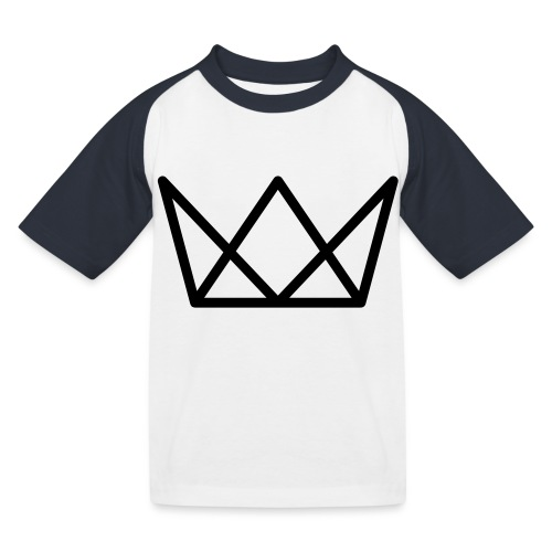 TKG Krone schwarz CMYK - Kinder Baseball T-Shirt