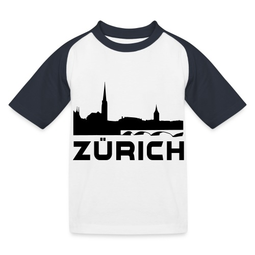 Zürich - Kinder Baseball T-Shirt