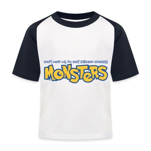 Monsters - Kids' Baseball T-Shirt
