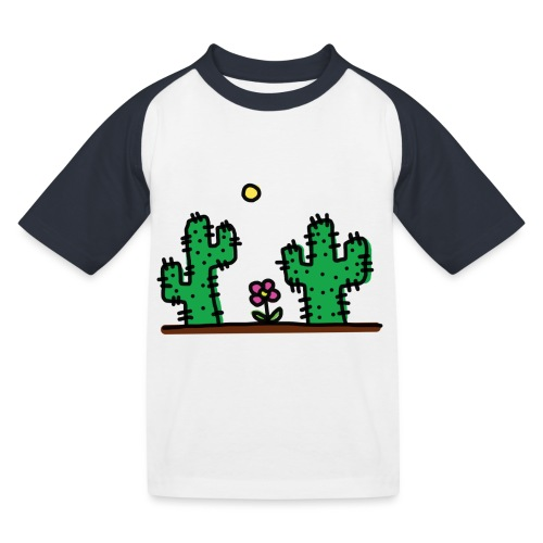Cactus - Maglietta da baseball per bambini