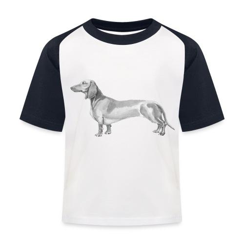 Dachshund smooth haired - Baseball T-shirt til børn