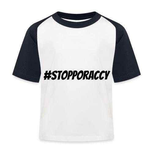 Stop Poraccy - Maglietta da baseball per bambini
