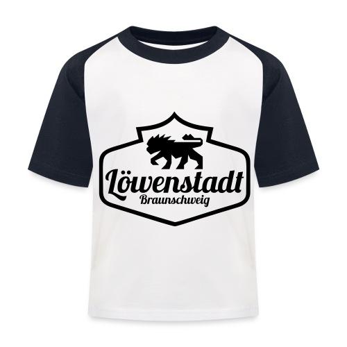 Löwenstadt Design 1 schwarz - Kinder Baseball T-Shirt
