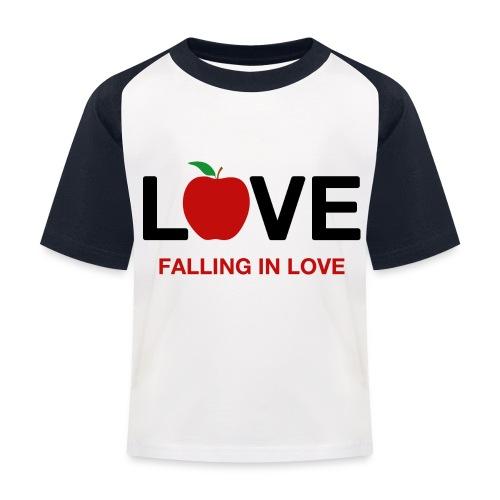 Falling in Love - Black - Kids' Baseball T-Shirt