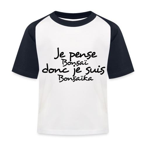 je_pense_donc_je_suis - T-shirt baseball Enfant