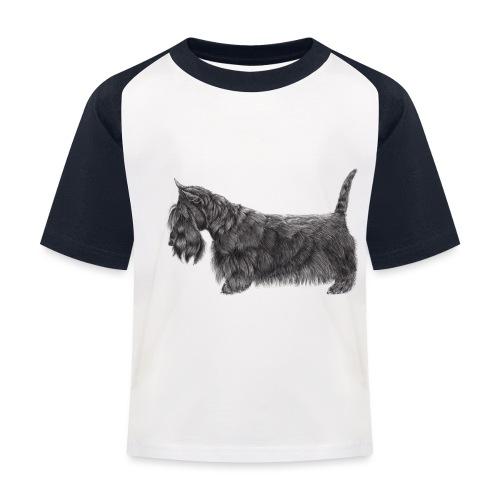 skotsk terrier ub - Baseball T-shirt til børn