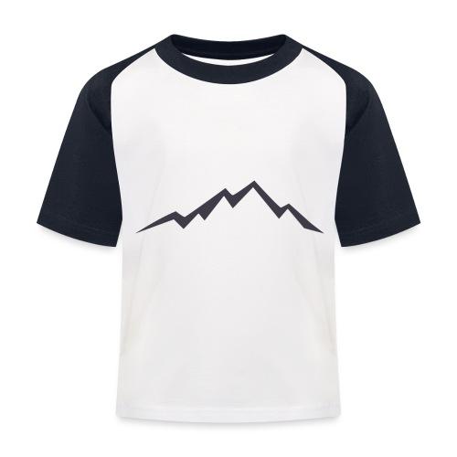 swiss alps clipart sihllouette ski mountains - Kinderen baseball T-shirt