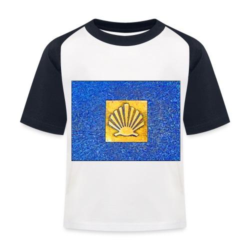 Scallop Shell Camino de Santiago - Kids' Baseball T-Shirt