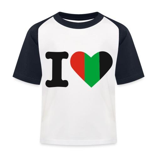 hartjeroodzwartgroen - Kinderen baseball T-shirt