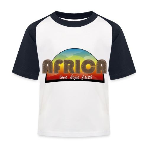 Africa_love_hope_and_faith - Maglietta da baseball per bambini