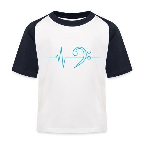 LowHeartBeat cyan - Kinder Baseball T-Shirt