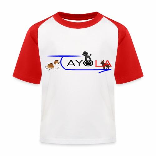 Tayola Black - T-shirt baseball Enfant