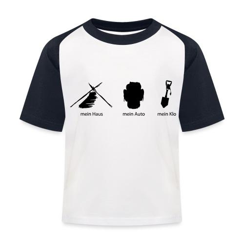 Haus Auto Klo - Kinder Baseball T-Shirt
