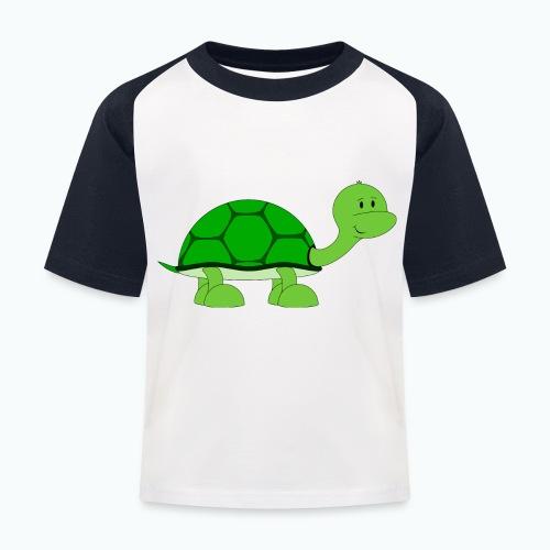 Totte Turtle - Appelsin - Baseboll-T-shirt barn