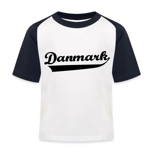 Danmark Swish - Baseball T-shirt til børn
