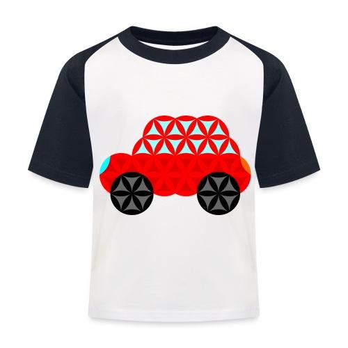 The Car Of Life - M01, Sacred Shapes, Red/R01. - Kids' Baseball T-Shirt