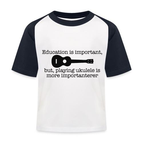 Important Ukulele - Kids' Baseball T-Shirt