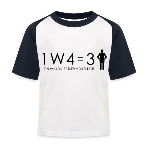 1W4 3L - Kinder Baseball T-Shirt