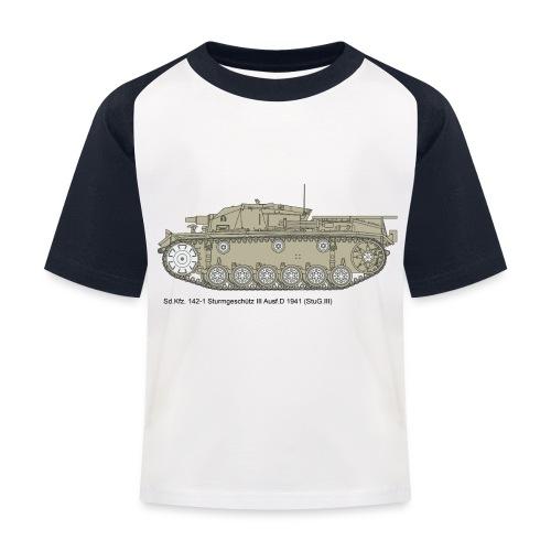 Stug III Ausf D. - Kinder Baseball T-Shirt