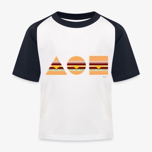 Graphic Burgers - Maglietta da baseball per bambini