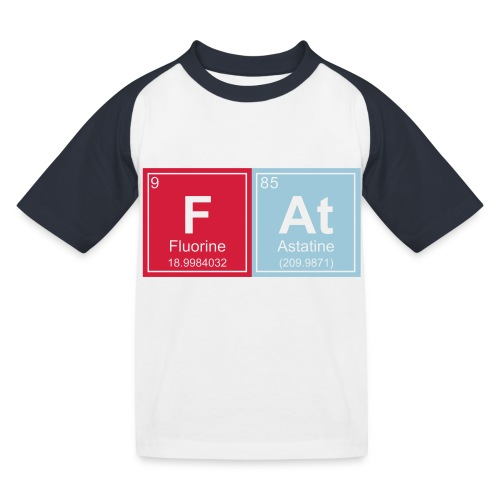 Geeky Fat Periodic Elements - Kids' Baseball T-Shirt