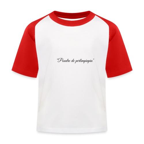 Happy - T-shirt baseball Enfant