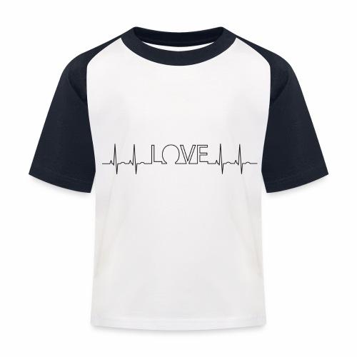 Liebe Herzschlag - Kinder Baseball T-Shirt