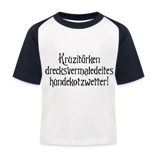 hundekotzwetter - Kinder Baseball T-Shirt